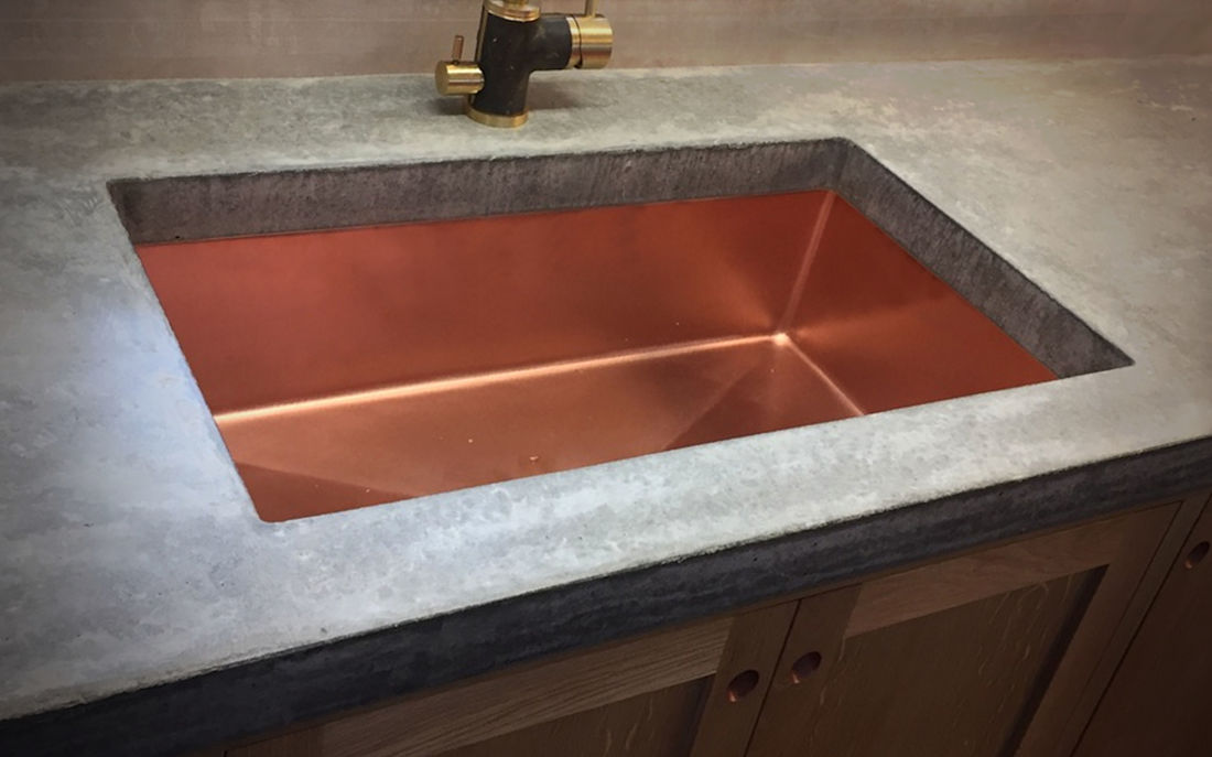 Kitchen Copper Sink - Metal manufacture