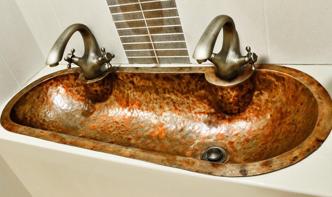 Bathroom copper sinks